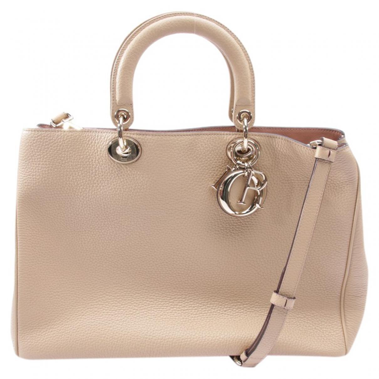 Dior - Sac a main Diorissimo pour femme en cuir - beige