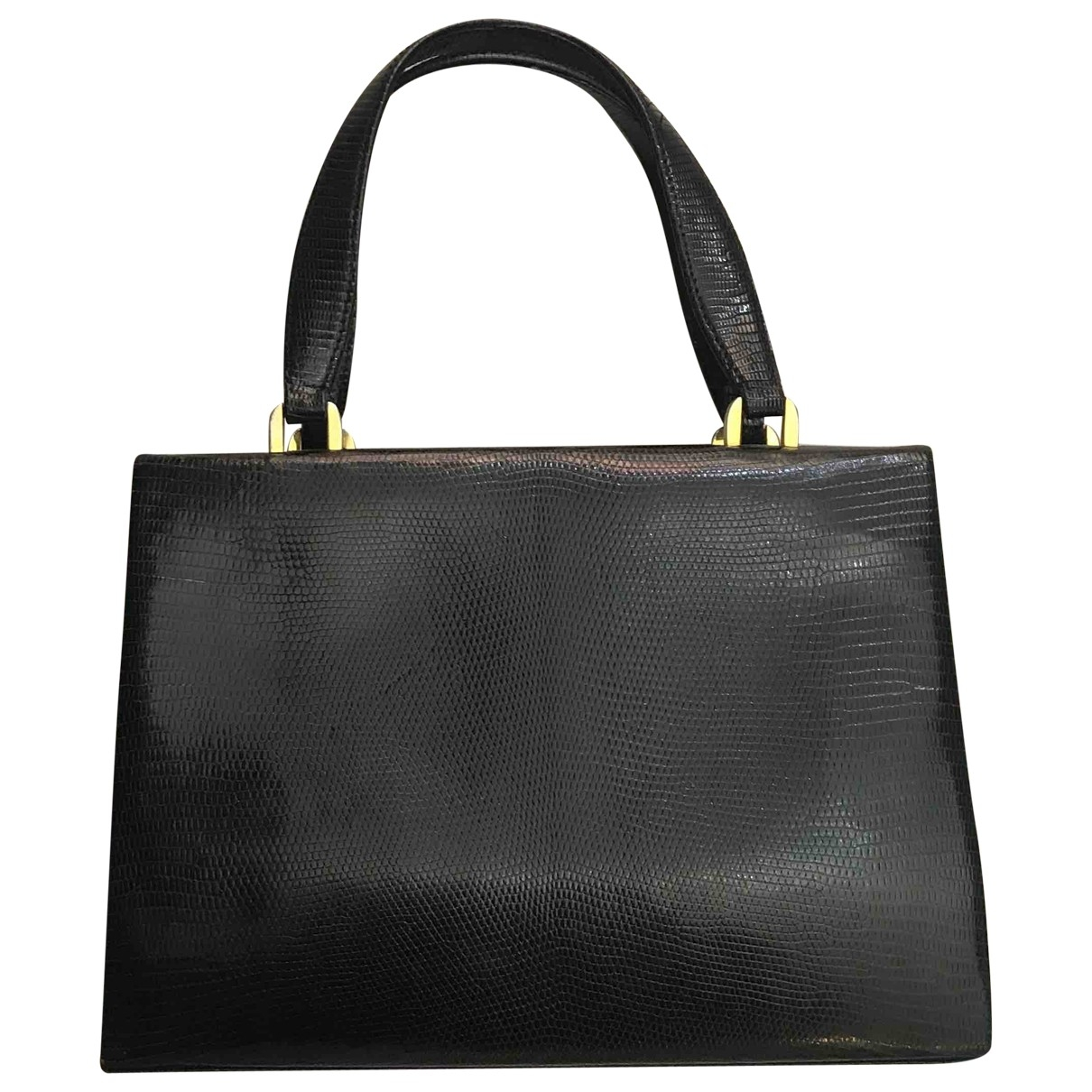 Non Signe / Unsigned \N Handtasche in  Schwarz Wasserschlangen