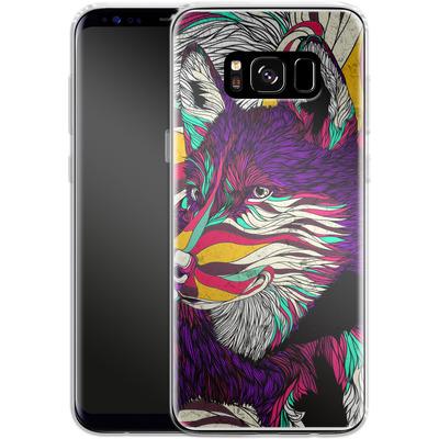 Samsung Galaxy S8 Silikon Handyhuelle - Color Husky von Danny Ivan
