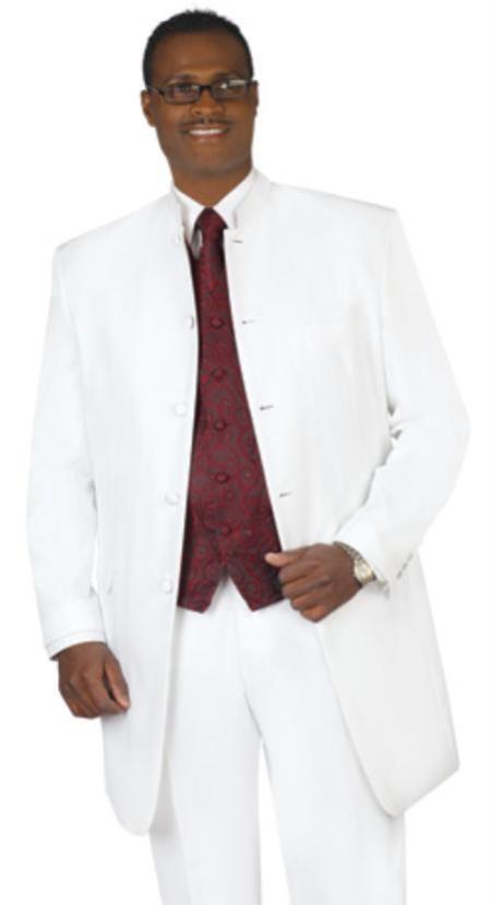 Mens Collarless Blazer Nehru Jacket Marriage Groom Wedding White