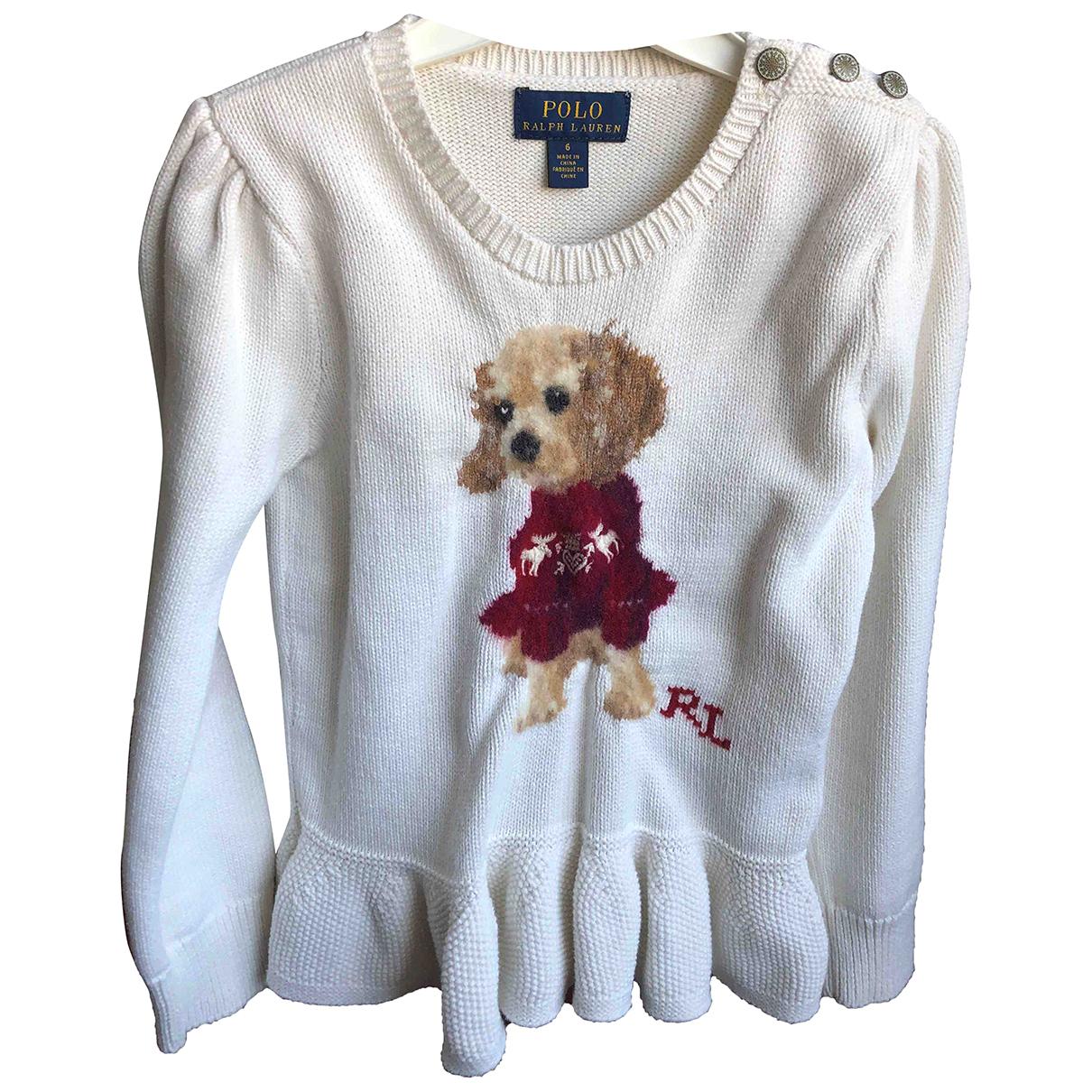 Polo Ralph Lauren - Pull   pour enfant en coton - blanc