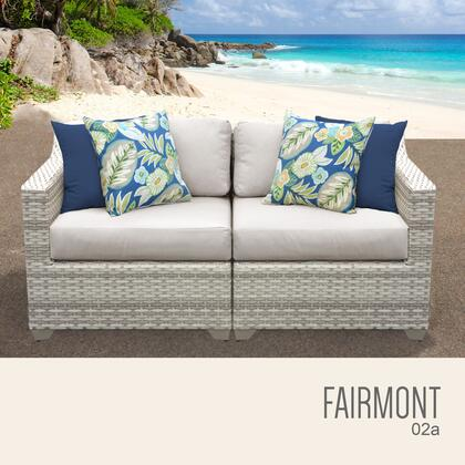FAIRMONT-02a Fairmont 2 Piece Outdoor Wicker Patio Furniture Set 02a with 1 Cover in