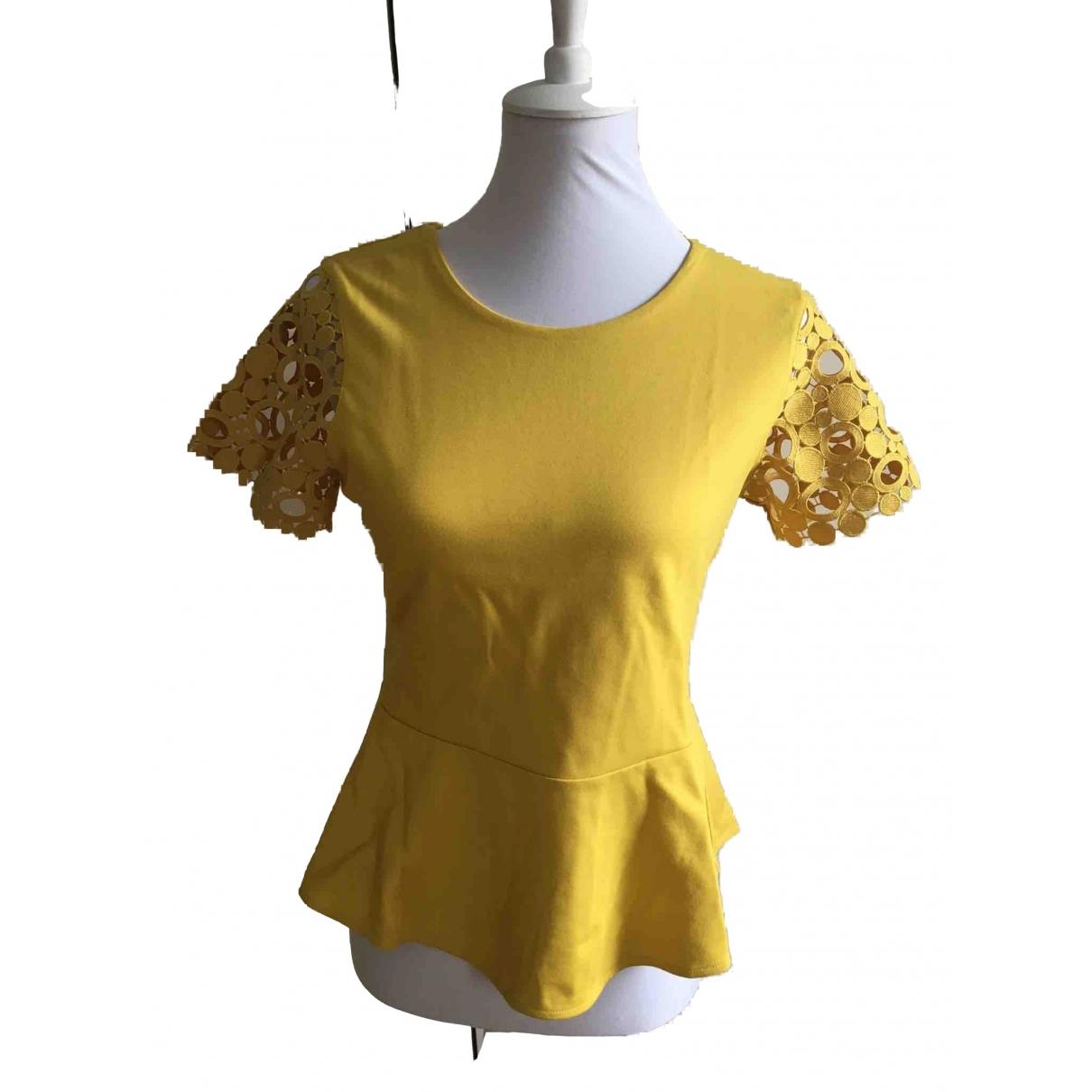 Karen Millen - Top   pour femme - jaune