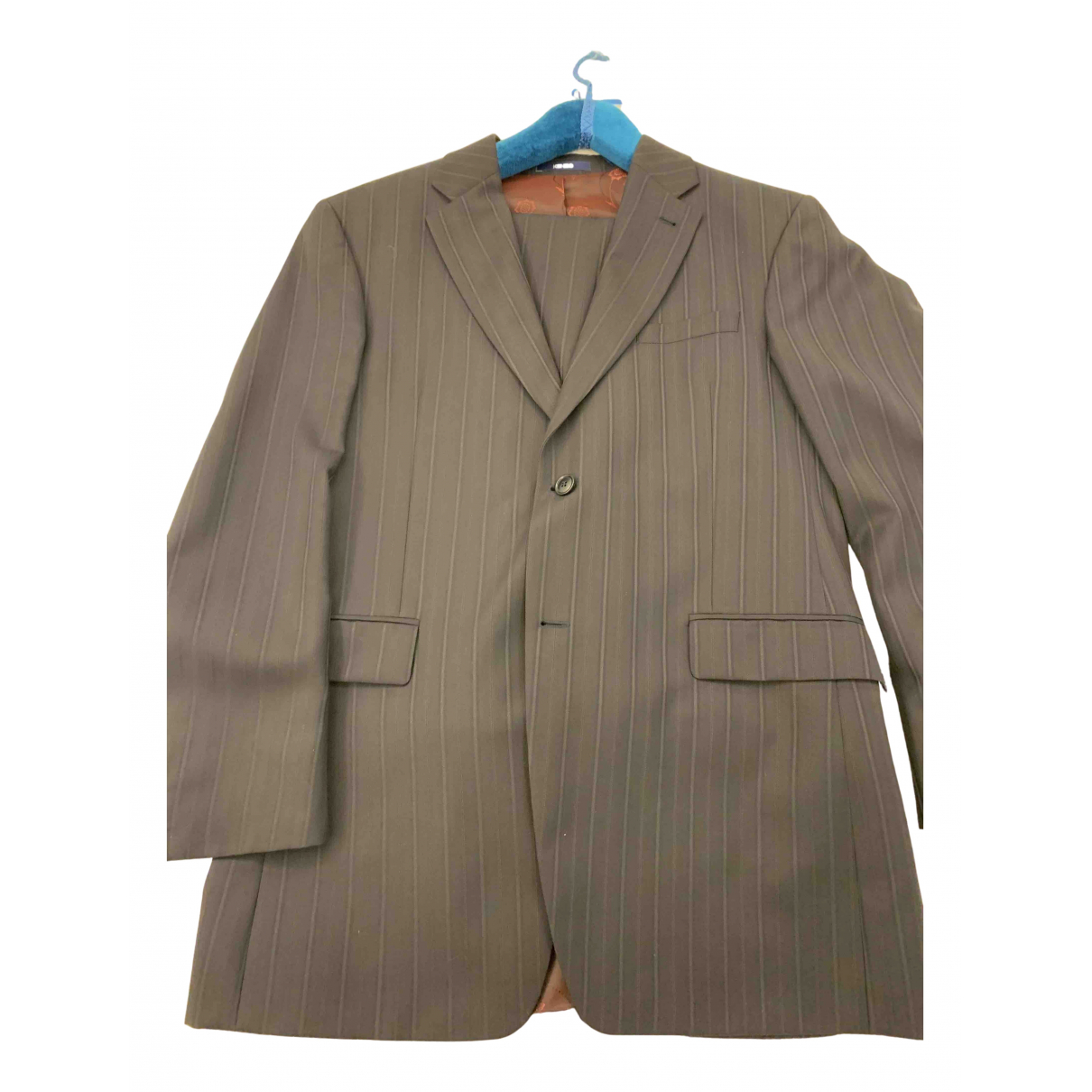 Kenzo N Blue Wool Suits for Men 54 FR