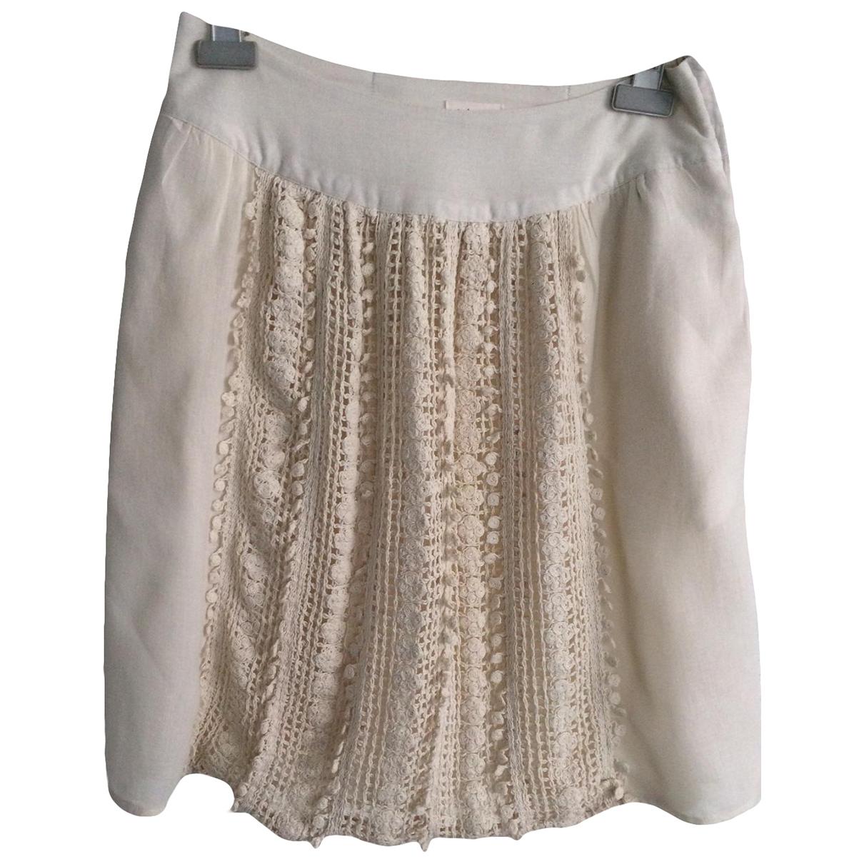 Stella Forest - Jupe   pour femme en coton - ecru