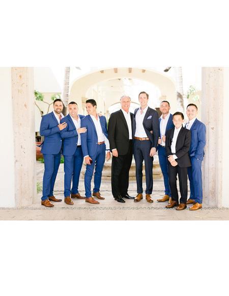 Mens Beach Wedding Attire Suit Menswear Black ~ Navy Blue ~ Blue 199