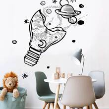 Bulb & Star Print Wall Sticker