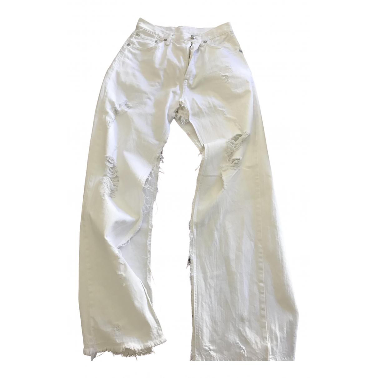 R13 \N Rocke in  Weiss Denim - Jeans