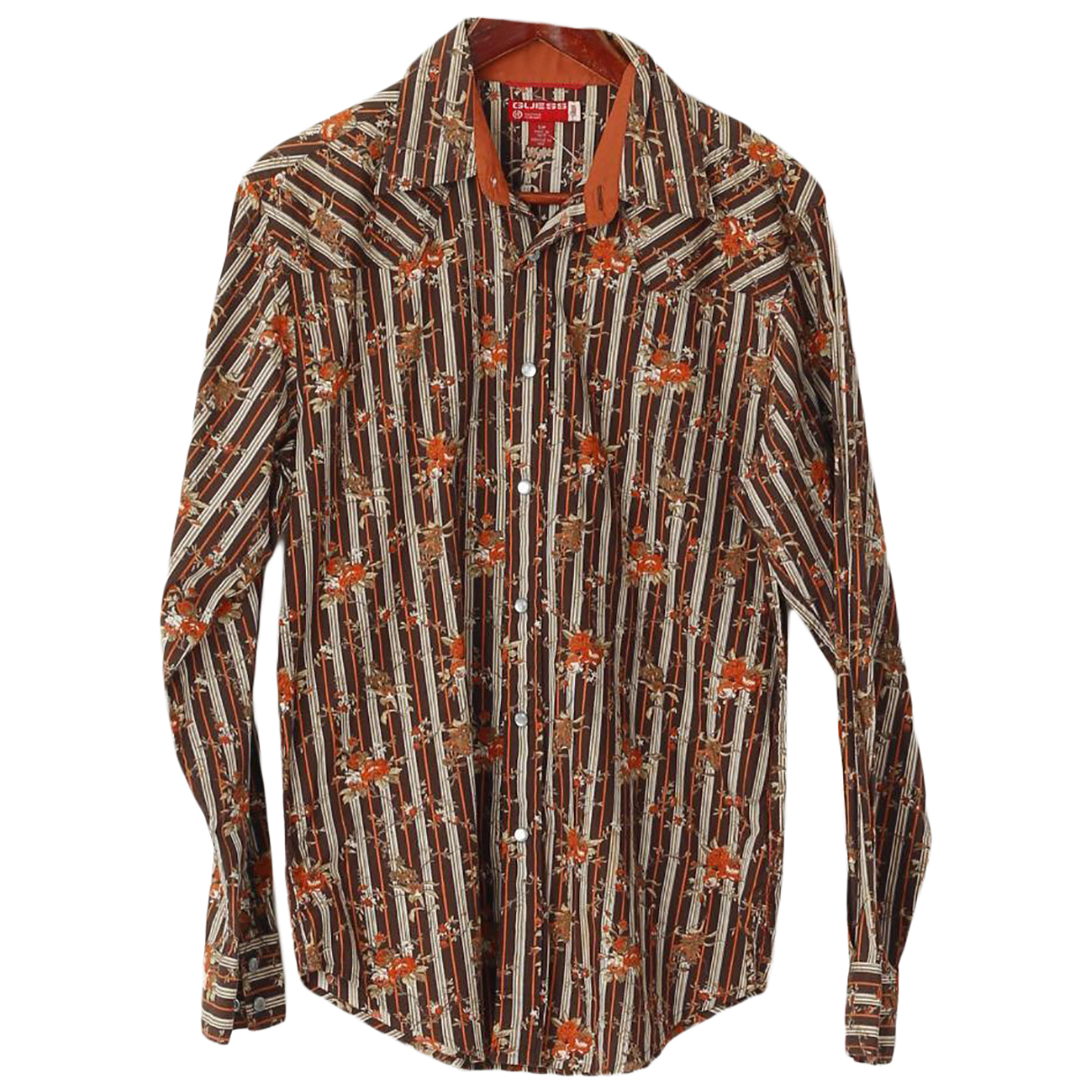 Guess N Brown Cotton Shirts for Men S International