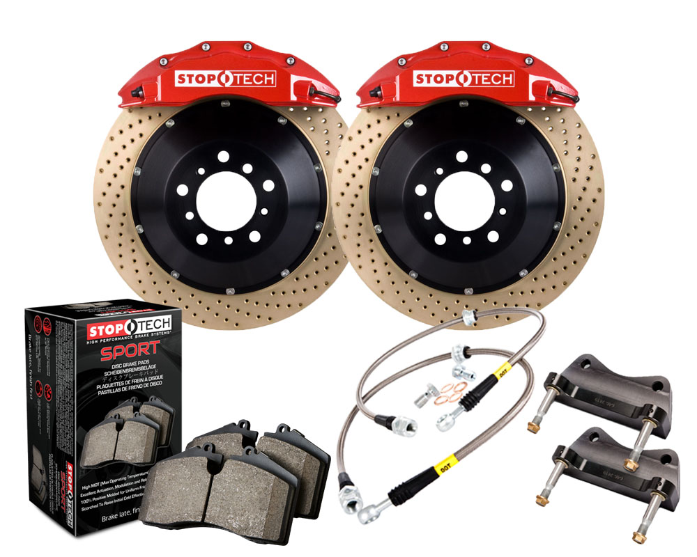 StopTech 83.435.6700.74 Big Brake Kit 2 Piece Rotor; Front Honda S2000 Front 2006-2009