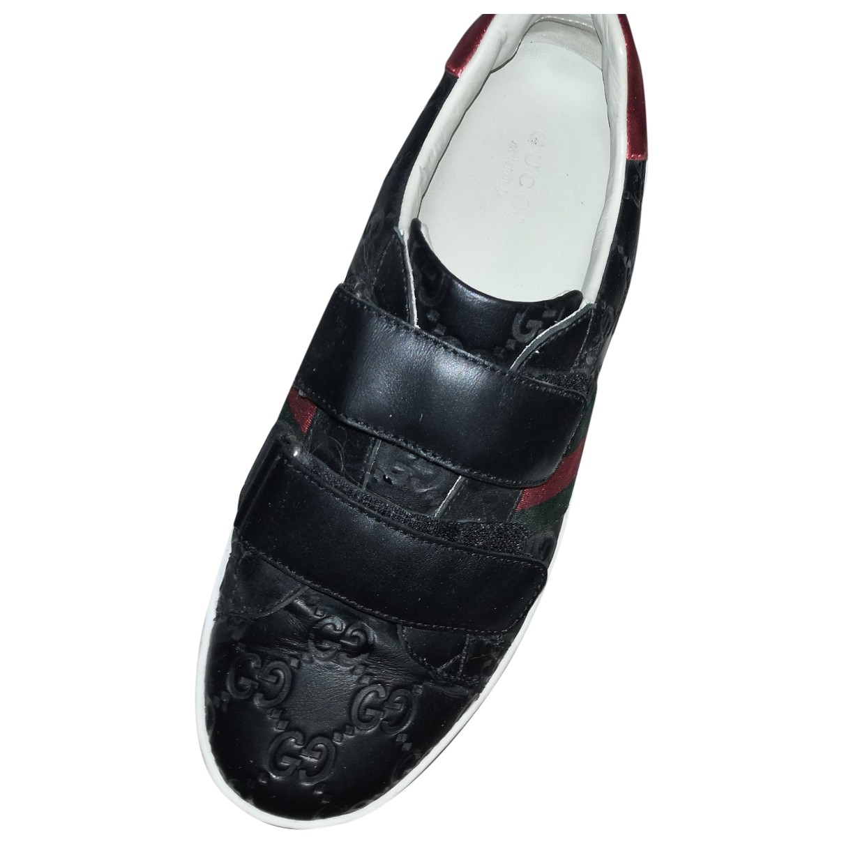 Gucci Ace Black Leather Trainers for Women 36 EU