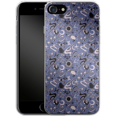 Apple iPhone 8 Silikon Handyhuelle - Zodiac Pattern von caseable Designs