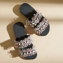 Faux Pearl Decor Fringe Trim Slides
