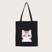 Cat Print Shopper Bag