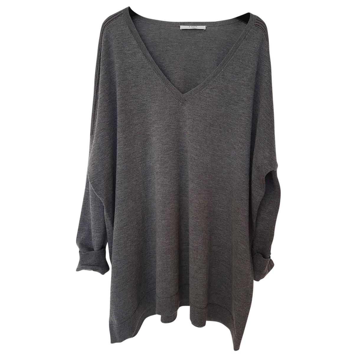 Zapa \N Pullover in  Grau Wolle