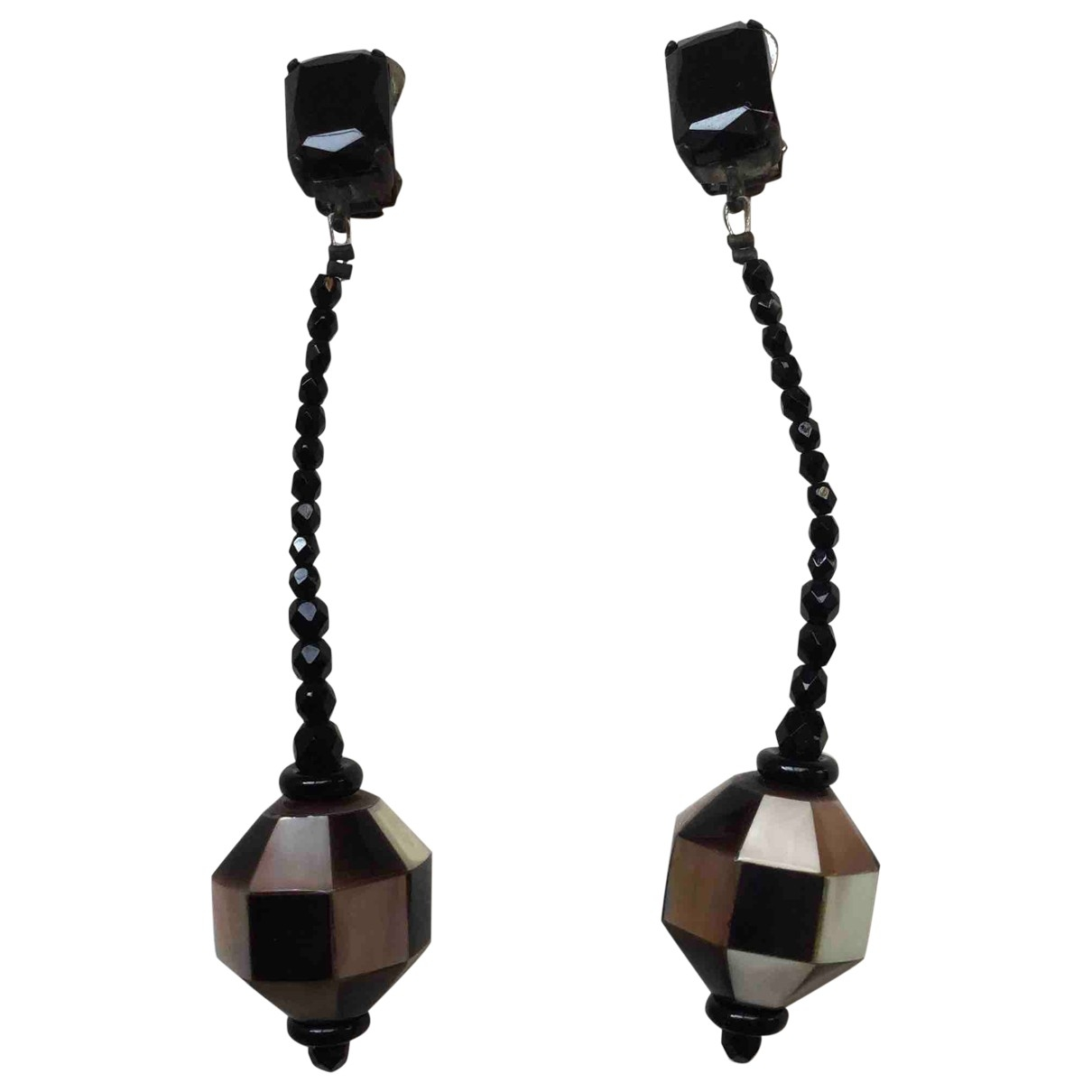 Giorgio Armani \N Black Metal Earrings for Women \N