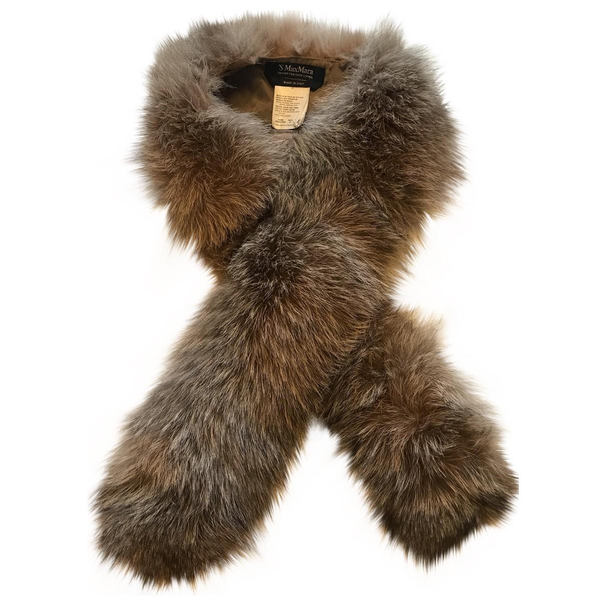 Max Mara 's \N Fox scarf for Women \N