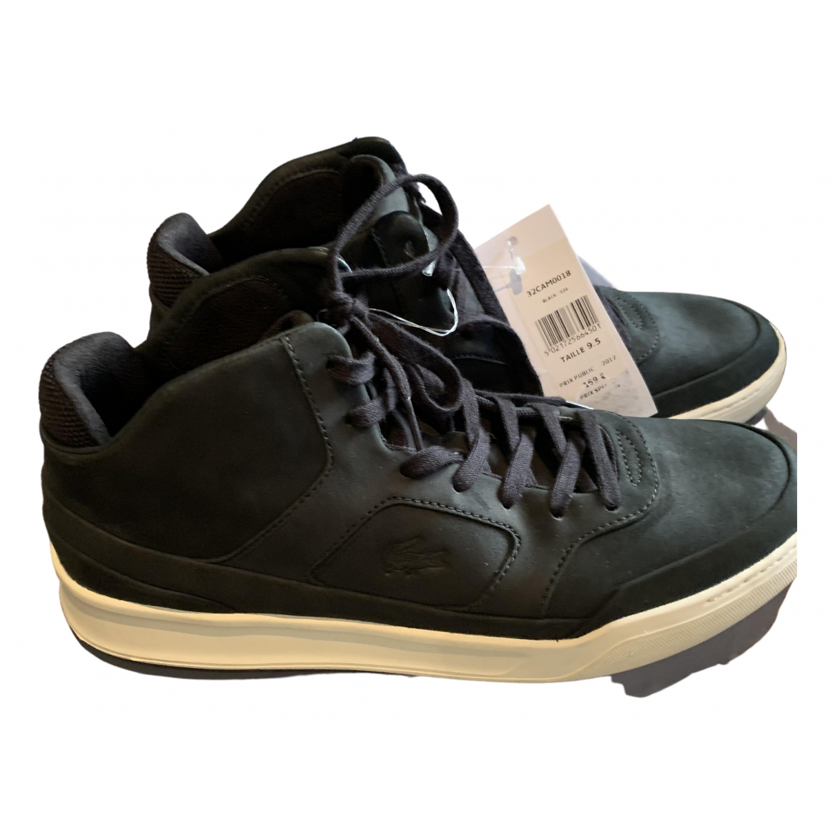 Lacoste \N Black Leather Trainers for Women 10.5 US