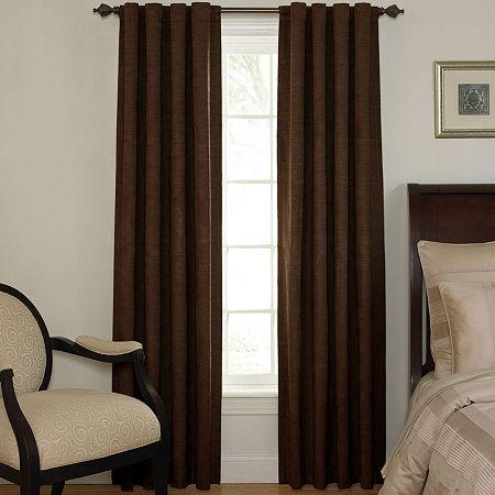 Sound Asleep Room-Darkening Back-Tab Curtain Panel, One Size , Brown