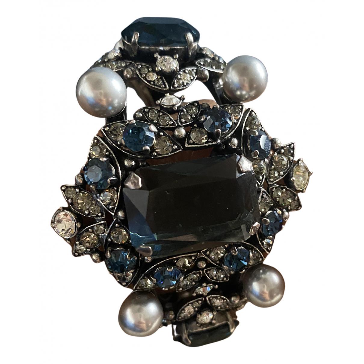 Lanvin - Bracelet   pour femme en metal - bleu