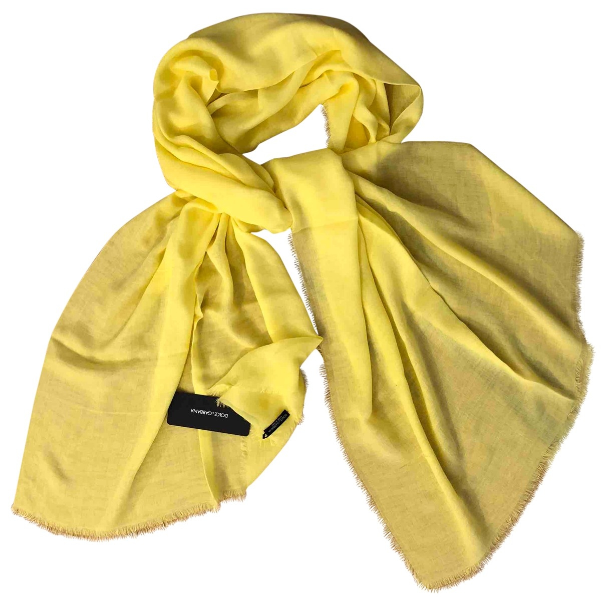 Dolce & Gabbana \N Yellow Cashmere scarf for Women \N