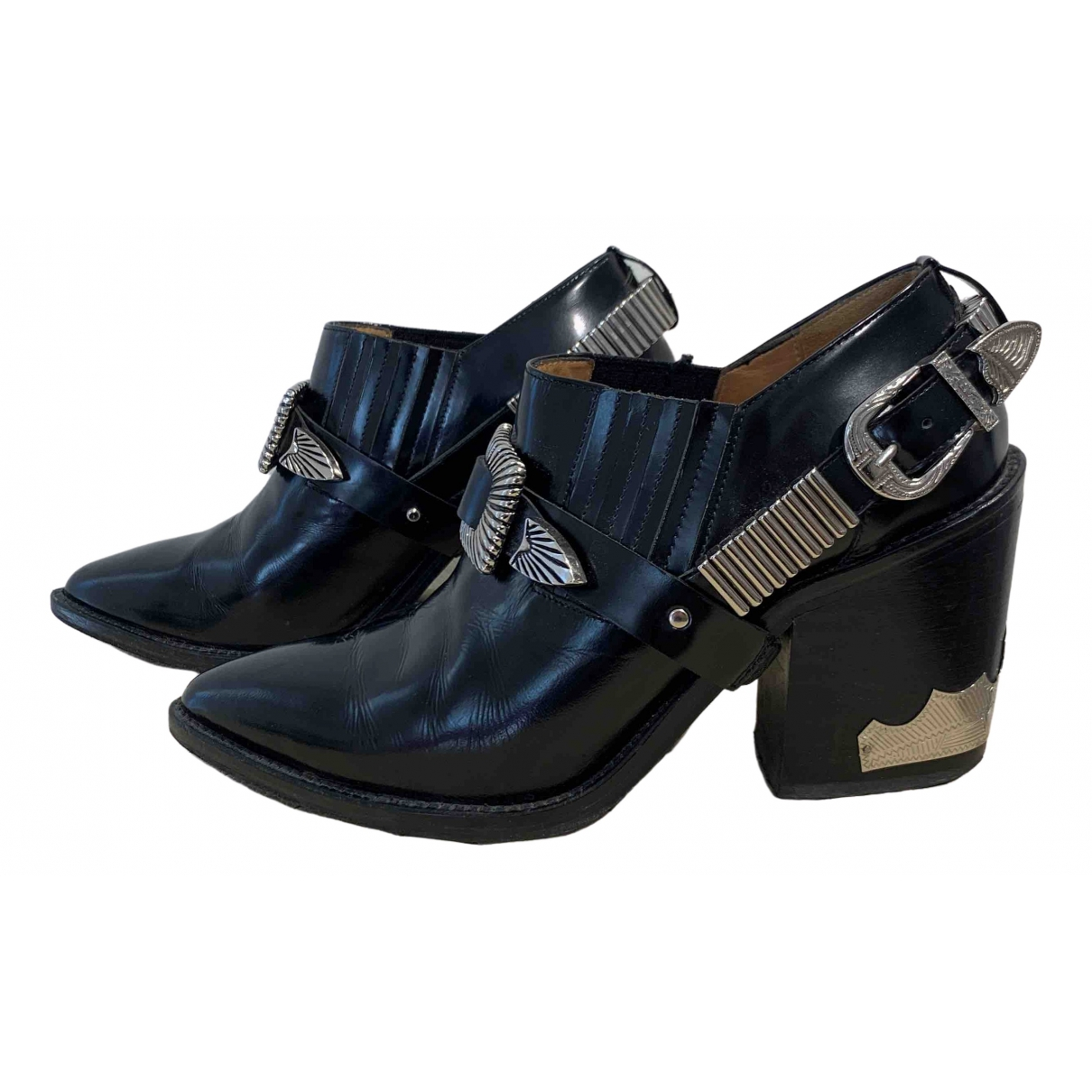 Toga Pulla \N Black Leather Boots for Women 37 EU