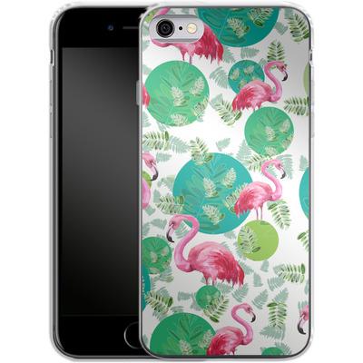 Apple iPhone 6s Silikon Handyhuelle - Flamingo Land von Mukta Lata Barua