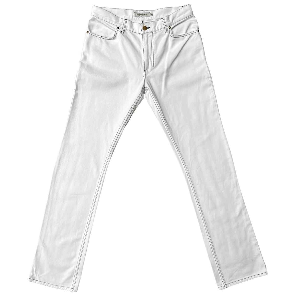 Yves Saint Laurent \N White Denim - Jeans Trousers for Men 48 IT
