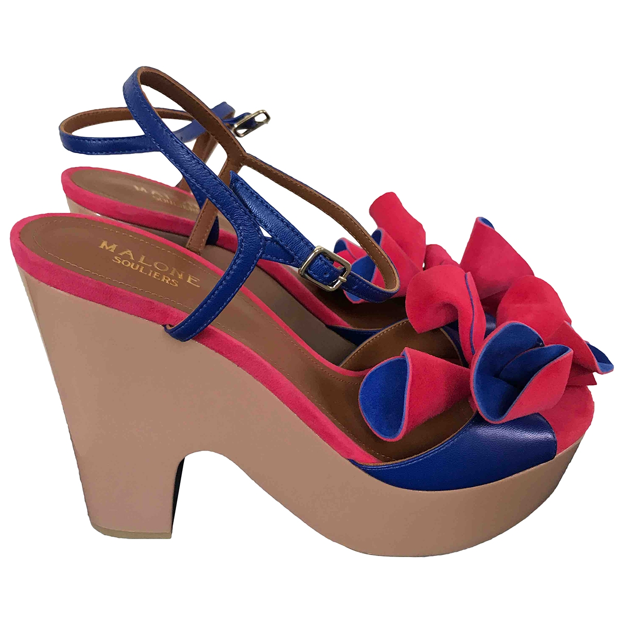 Malone Souliers - Sandales   pour femme en suede - multicolore