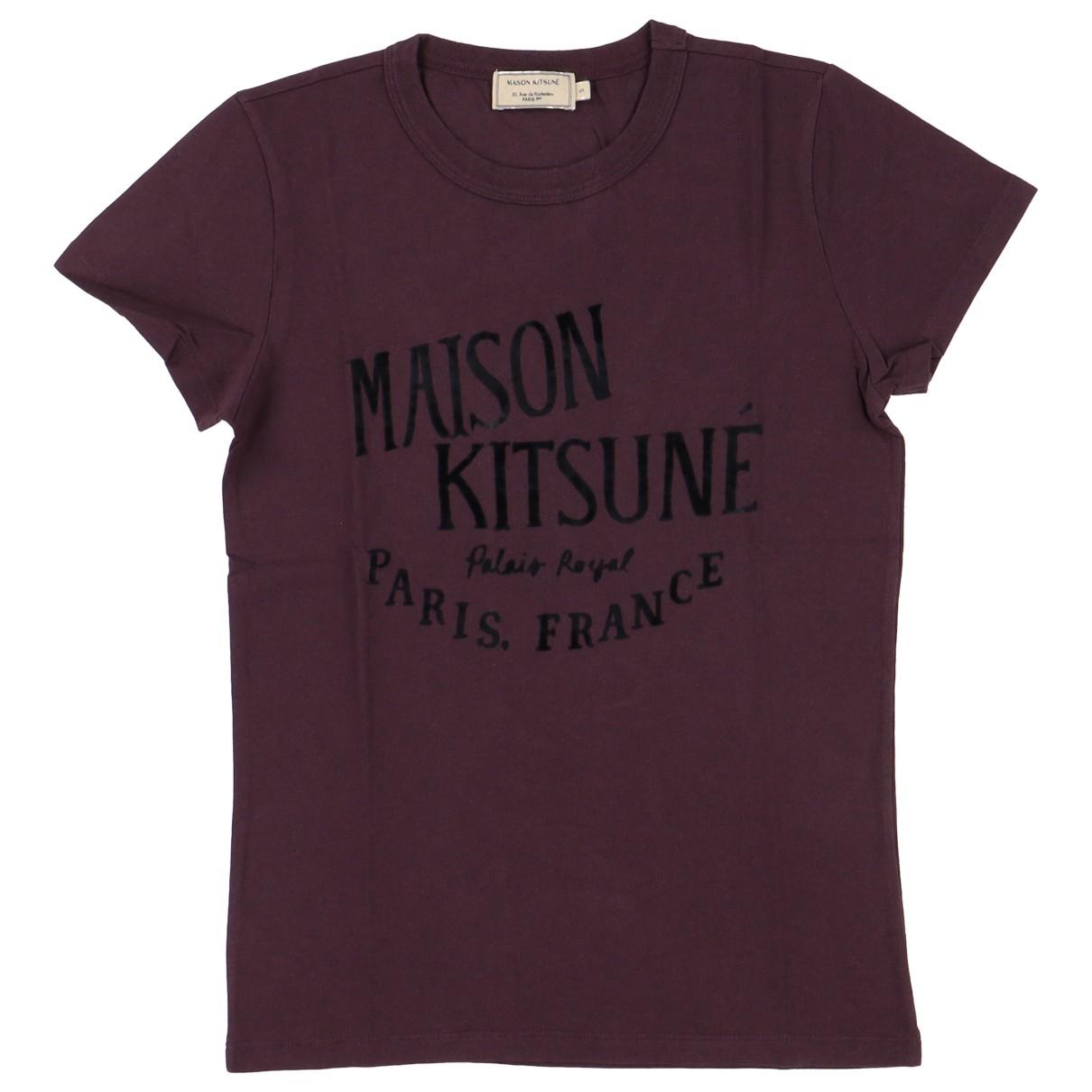 Maison Kitsune - Top   pour femme en coton - violet