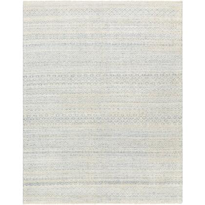 Nobility NBI-2309 4' x 6' Rectangle Traditional Rug in Pale Blue  Teal  Dark Blue  Ivory
