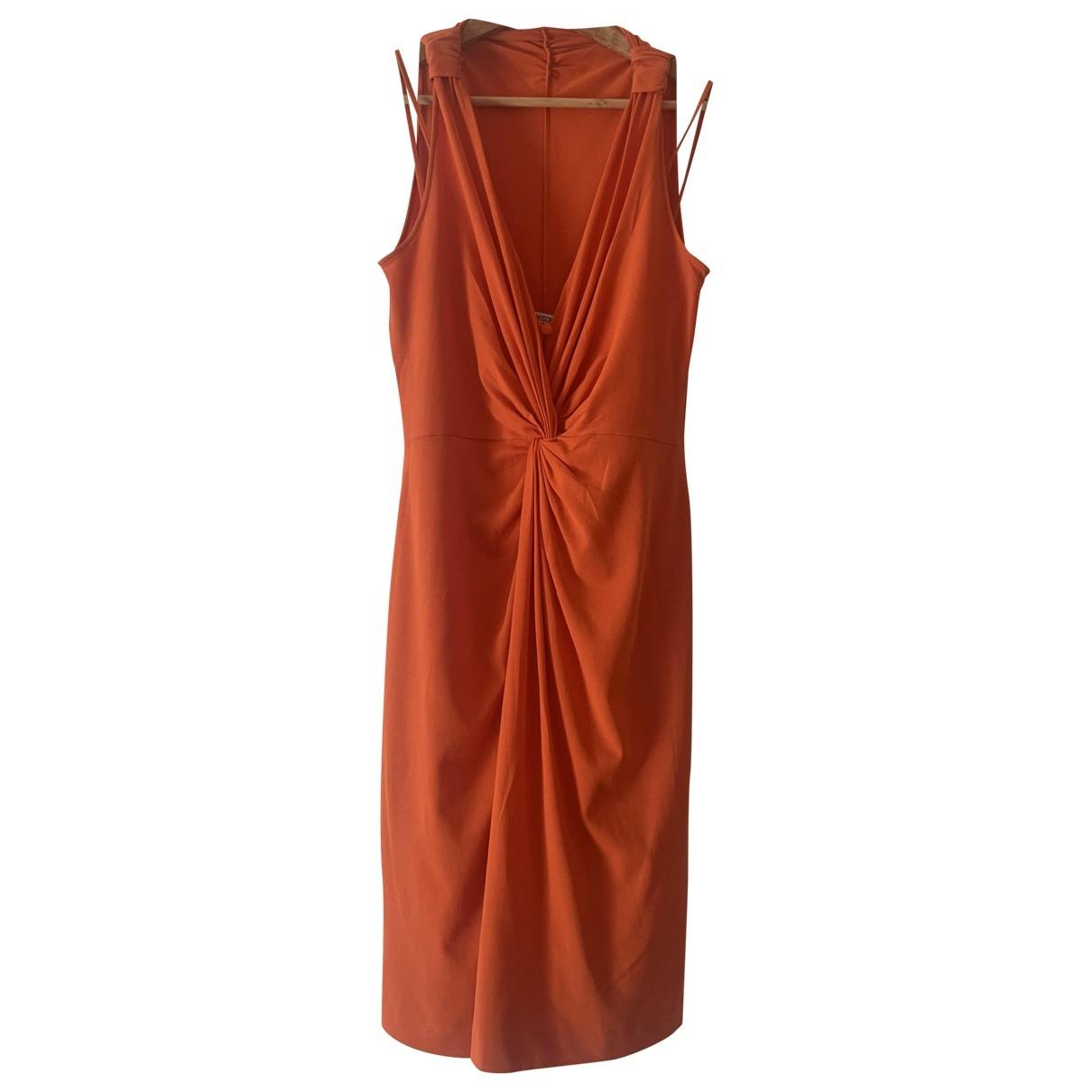 Moschino Cheap And Chic \N Kleid in  Orange Baumwolle