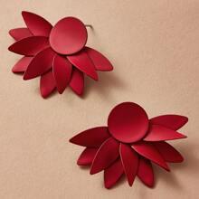 Tropfenohrringe mit Blume Design 1 Paar