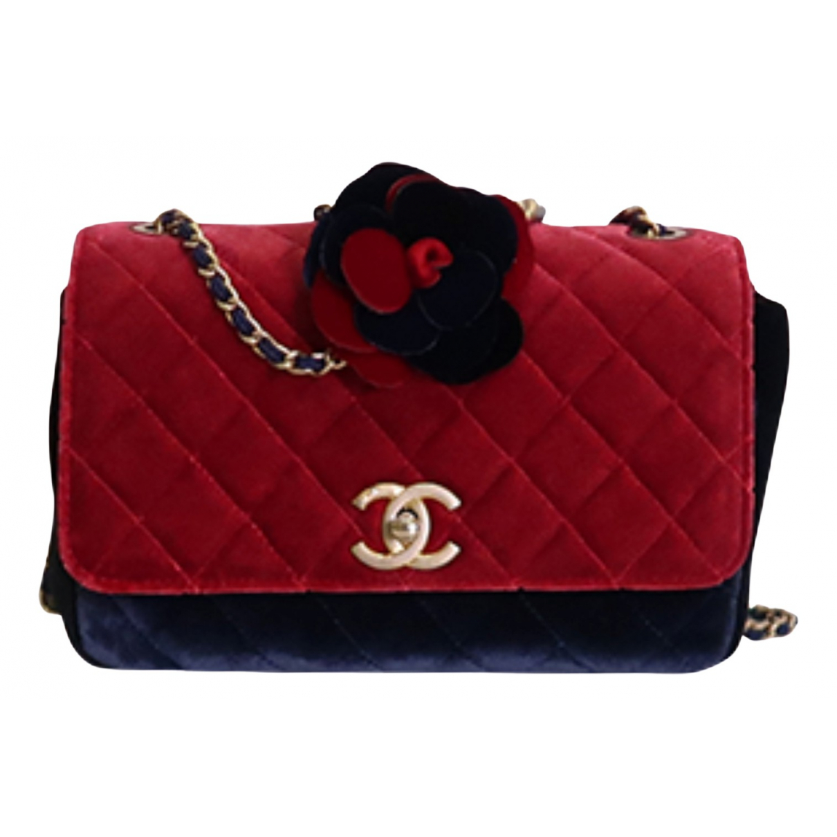 Chanel - Sac a main   pour femme en velours - multicolore