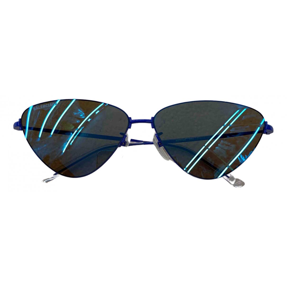 Balenciaga Invisible Cat Sonnenbrillen in  Blau Metall