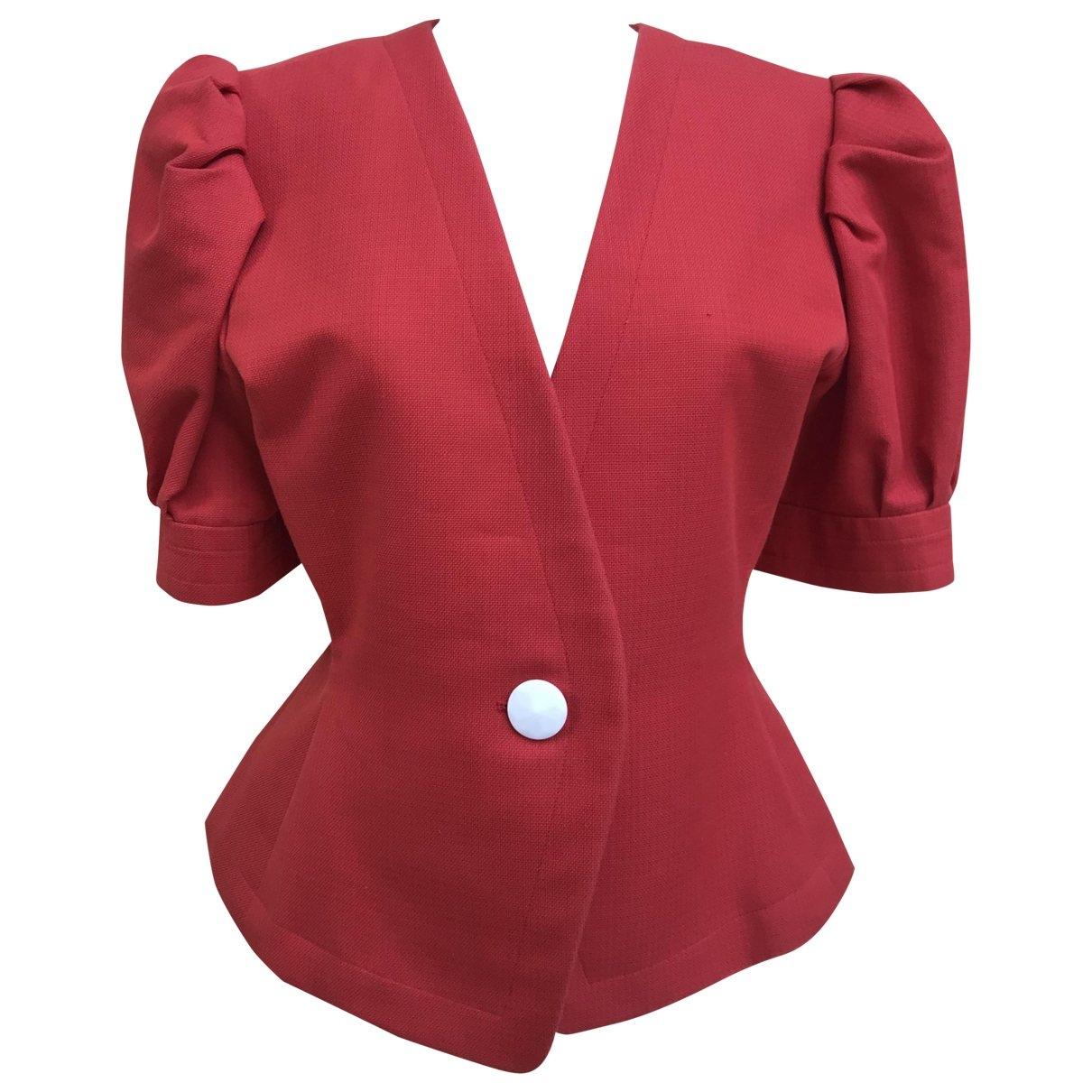 Yves Saint Laurent \N Red Linen jacket for Women 44 FR