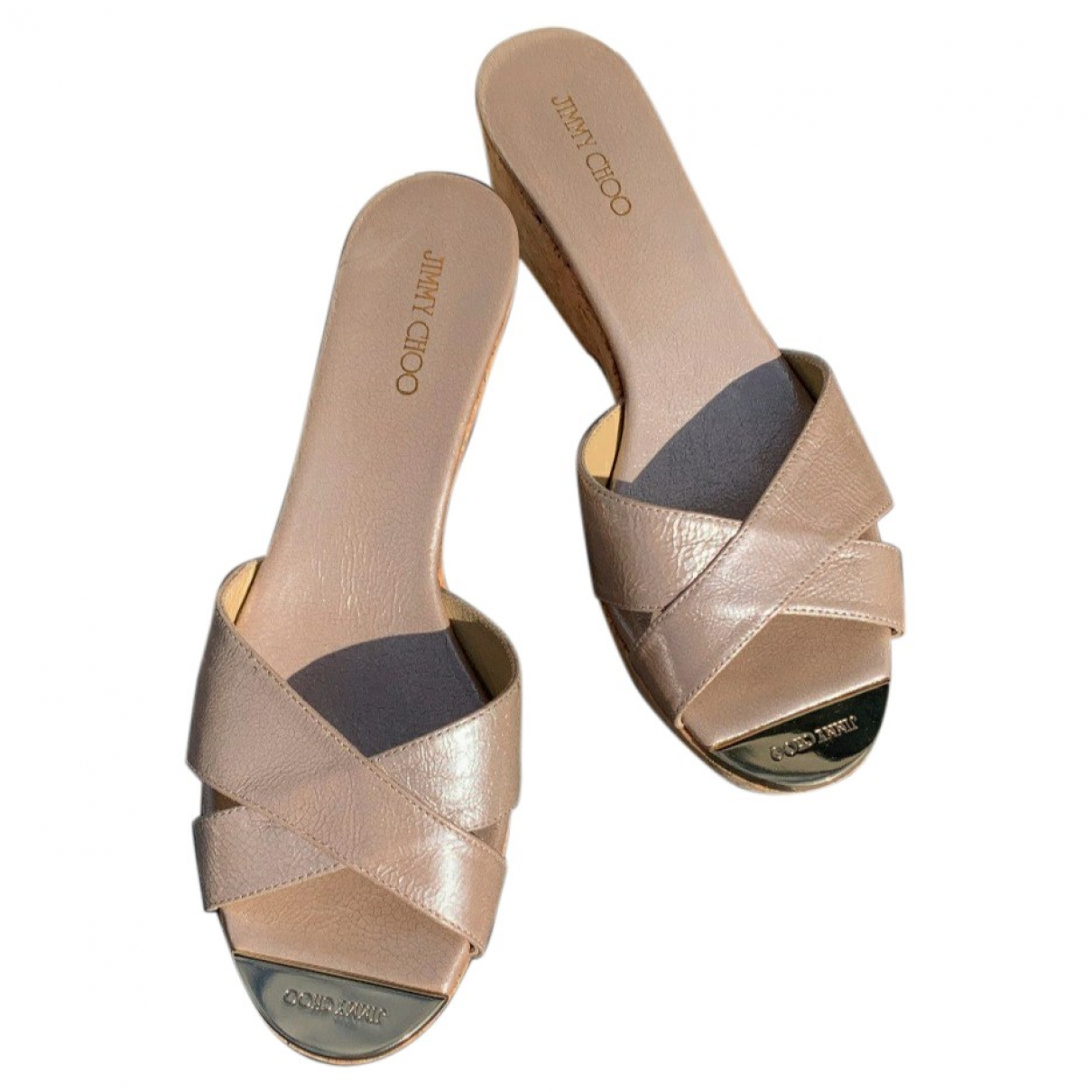Jimmy Choo \N Sandalen in  Gold Leder