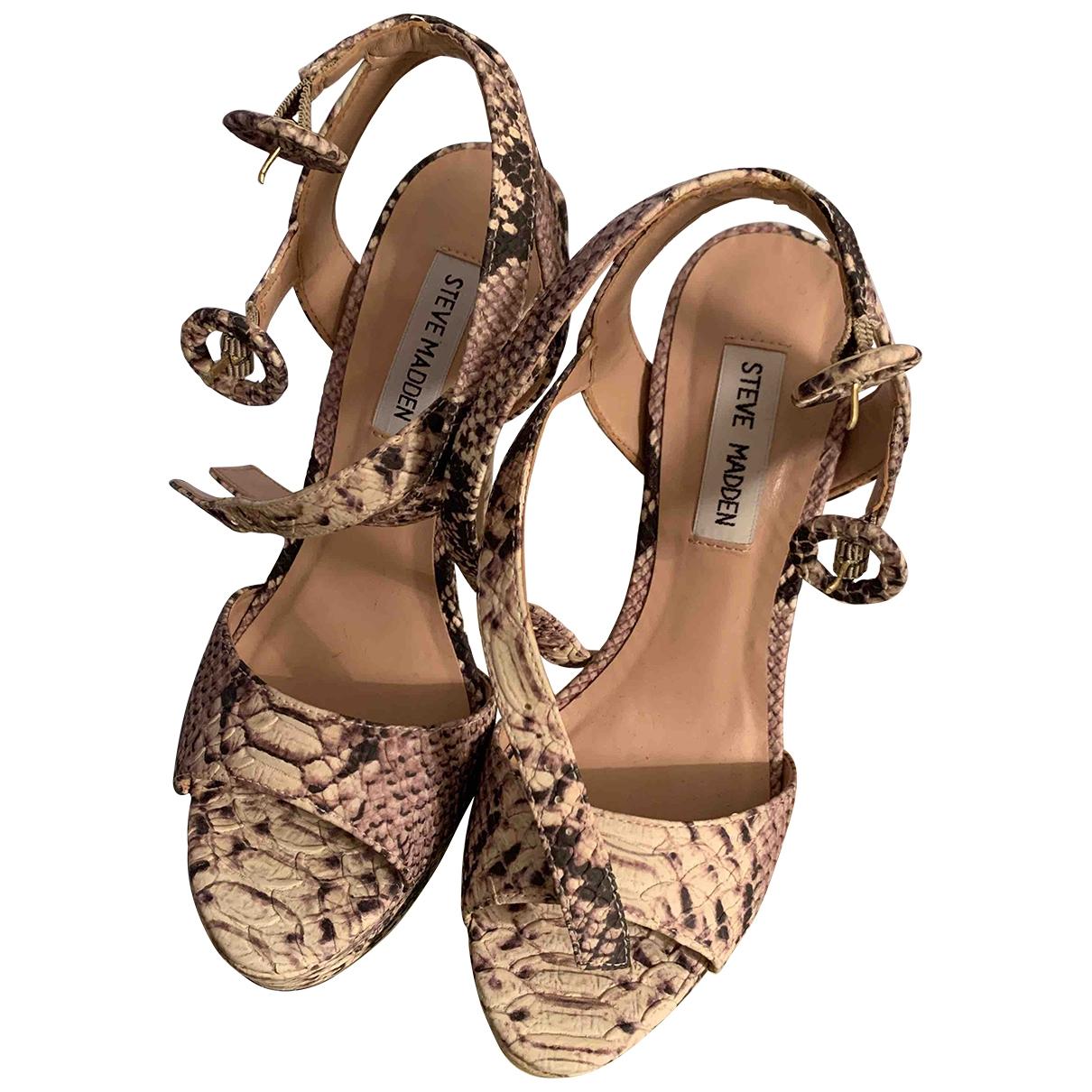 Steve Madden - Boots   pour femme en python - gris