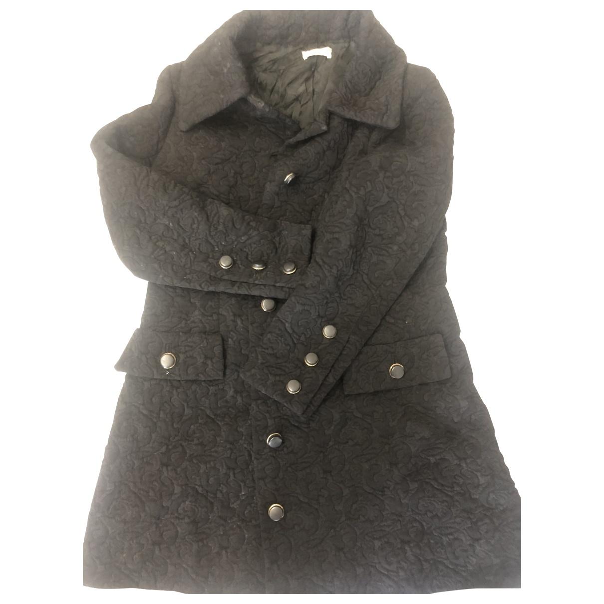 Dior \N Maentel in  Schwarz Wolle