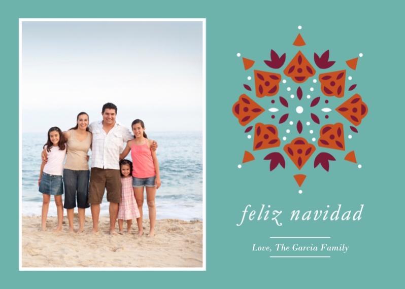 Tarjetas de Navidad 5x7 Cards, Standard Cardstock 85lb, Card & Stationery -Feliz Navidad Pattern