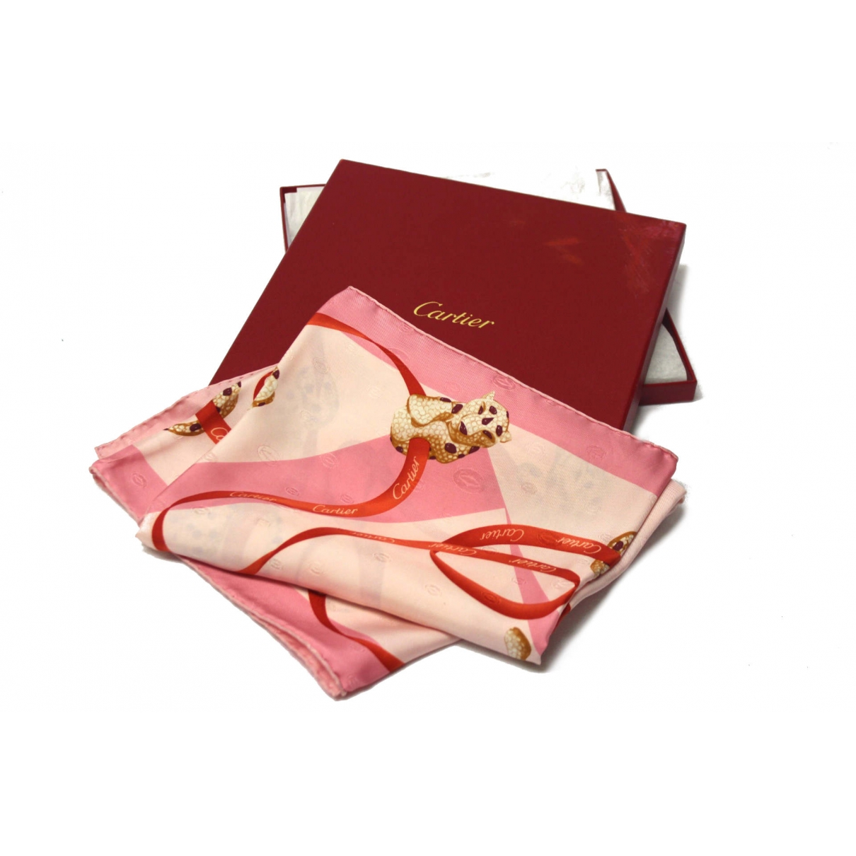 Cartier \N Tuecher in  Rosa Seide