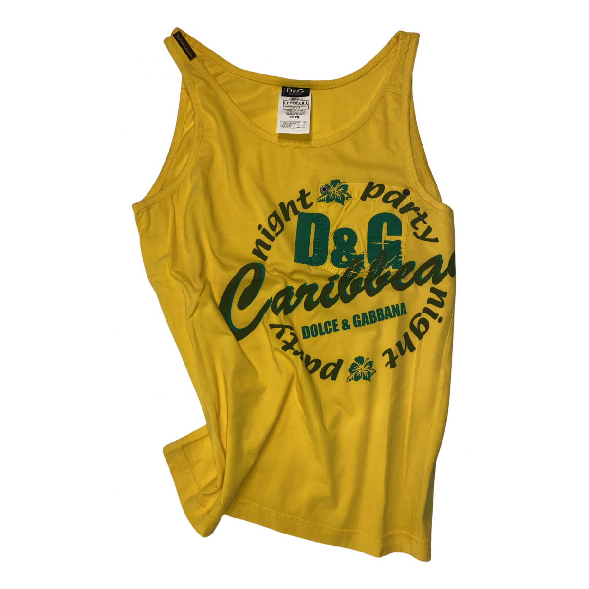 D&g - Tee shirts   pour homme en coton - jaune