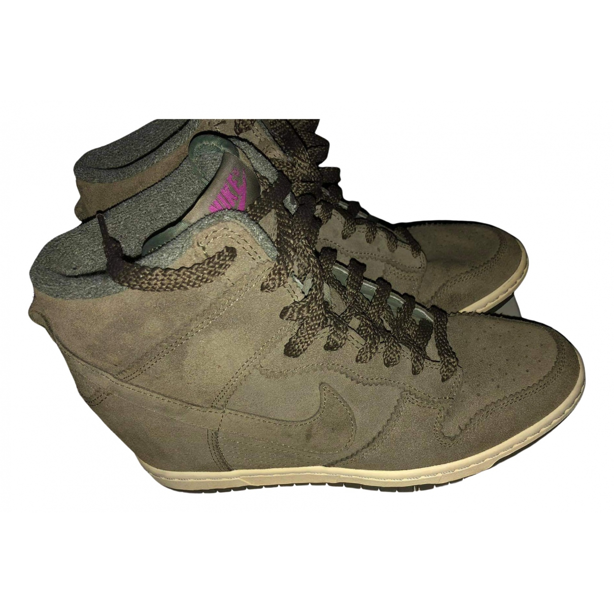 Nike Dunk Sky Sneakers in  Khaki Leder