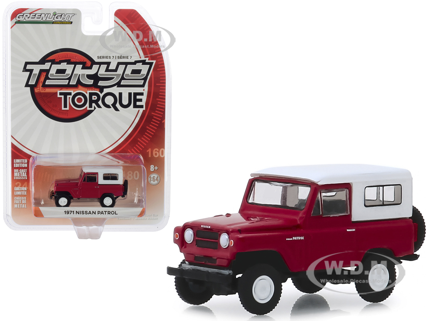 1971 Nissan Patrol Red with White Top