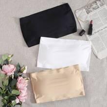 3 piezas set sujetador bandeau sin costura