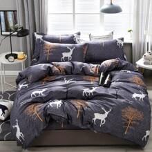 Deer Print Bedding Set Without Filler
