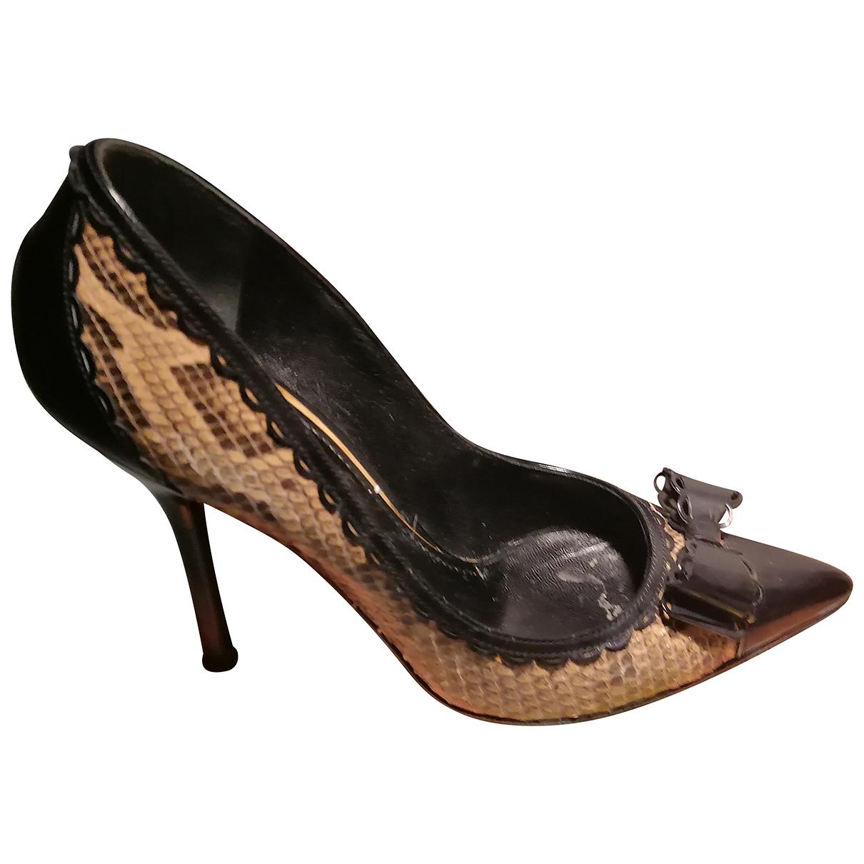Dolce & Gabbana - Escarpins   pour femme en cuir - beige