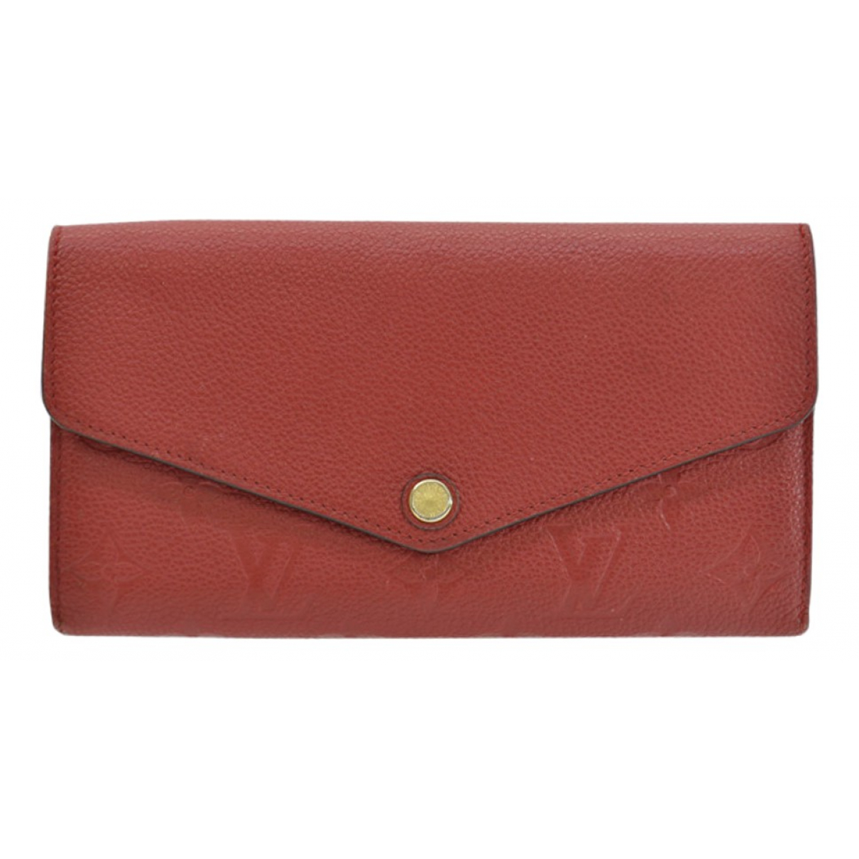Louis Vuitton Sarah Portemonnaie in  Rot Leder