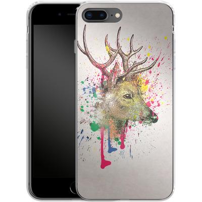 Apple iPhone 7 Plus Silikon Handyhuelle - Splatter Deer von Mark Ashkenazi