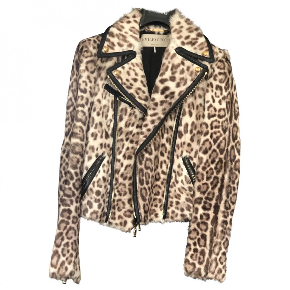 Emilio Pucci \N Brown Fur jacket for Women 40 IT